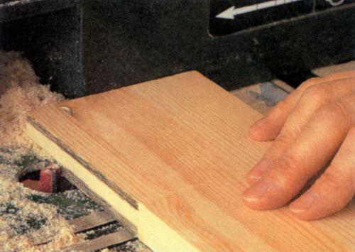 Вырезание шипа фрезером