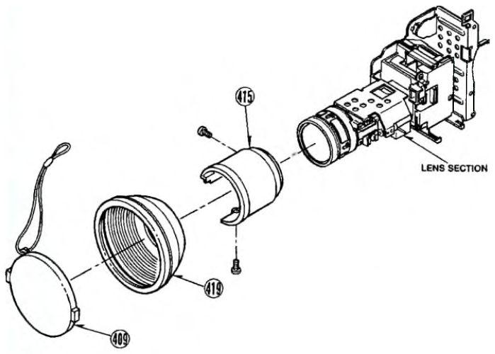 Фрагмент сборочного чертежа видеокамер MV-MS4/M9000/M9900