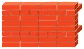 Декоративная кладка с совпадающими во всех рядах вертикальными швами