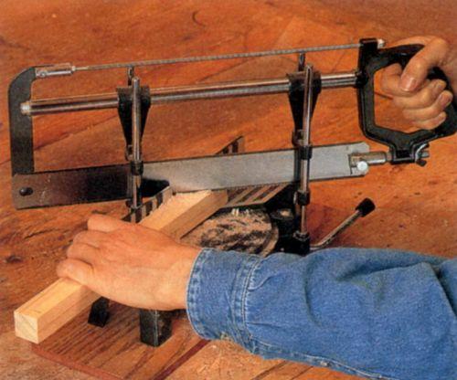 Косоугольное распиливание с помощью рамной лучковой пилы