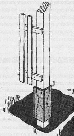 Ремонт подгнивших столбов