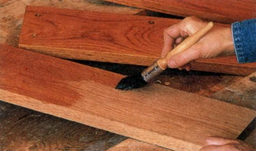 Отделка древесины тиковым маслом