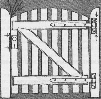 Ремонт перекошенной калитки смещением петель и замочной планки