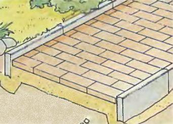 Надежный бордюр из бетонных плиток