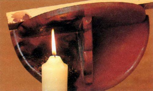 Отделка древесины свечным пламенем