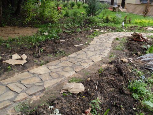 Садовые дорожки из камня сделать своими руками