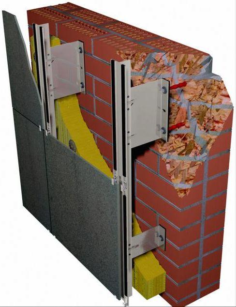Устройство системы вентилируемых навесных фасадов