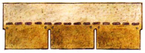 Крепление «по-штормовому» — шесть гвоздей на пластину