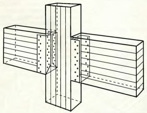 Опору балки используют при устройстве деревянных перекрытий