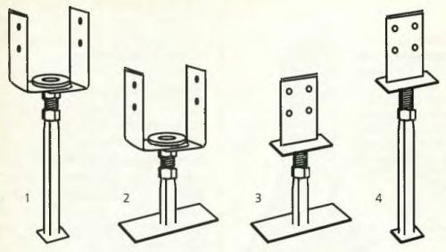 Башмаки для несущих стоек и колонн