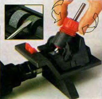 Качественную заточку сверла, стамески или ножа рубанка поможет сделать небольшая приставка к дрели