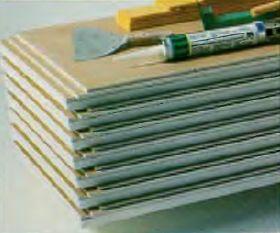 Панели из гипсоволокнистого картона и пенополистирола с фальцем