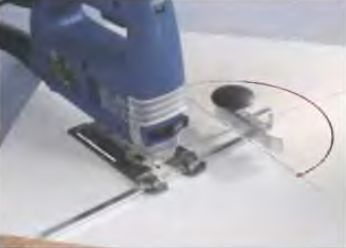 Циркуль для электролобзика позволяет выпиливать круги