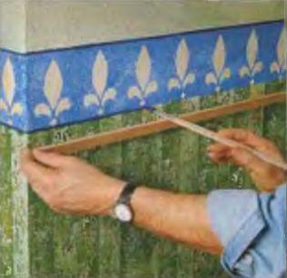 Орнамент бордюра подчеркивают декоративной пунктирной линией