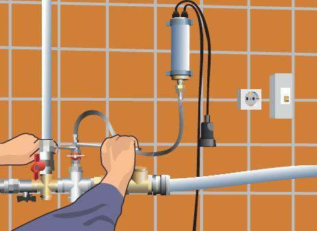 Подсоединяем второй конец шланга к крану водоснабжения