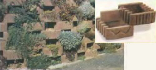 Укрепление склонов искусственным камнем