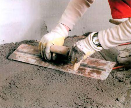 Устройство стяжки с применением неразливного материала