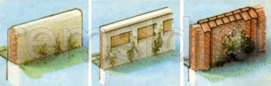 Неприступный забор из кирпича или камня