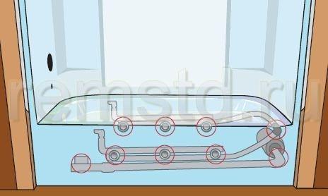 Проверяем основные места соединений на наличие течи