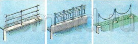 Ограждения для террас, водоемов и парковок автомобилей