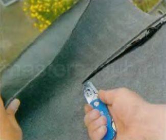 Укладка еврорубероида на плоской крыше