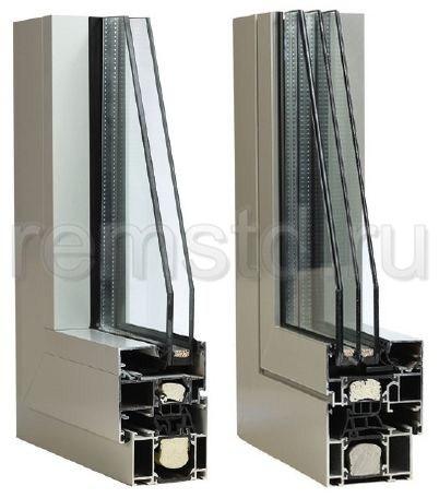 Профиль алюминиевого окна
