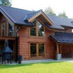 Дома из клееного бруса - особенности архитектурных решений