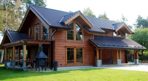 Дома из бруса - особенности архитектурно-ладшафтных решений