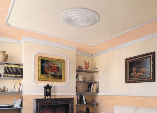 Декоративный багет или потолочный плинтус позволяют придать интерьеру шарм разнообразных стилей.