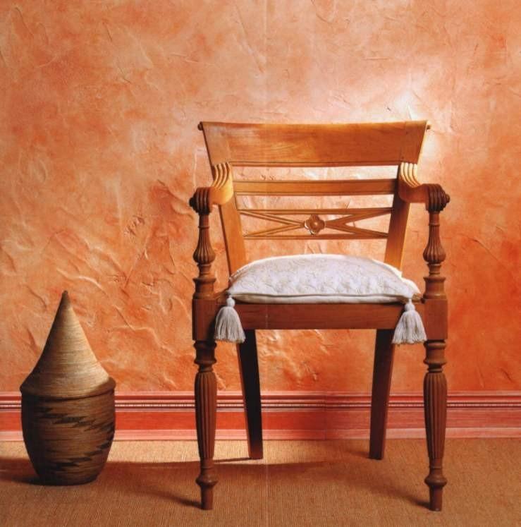 Шпатлёвка и краска, позволяет оформить комнату в средиземноморском стиле