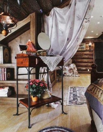 Интерьер комнаты в русском стиле