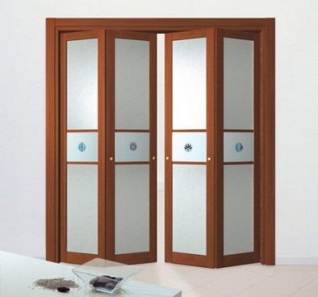 Складная дверь-гармошка гардеробной комнаты