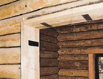 Компенсационный зазор обсадной коробки двери