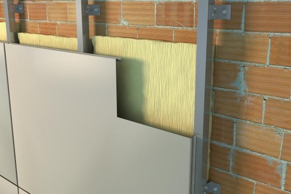 Скрытая система крепления вентилируемого фасада