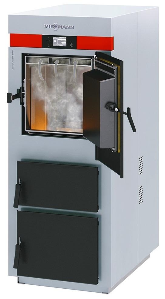Viessmann Vitoligno 100-S - напольный твердотопливный пиролизный котел