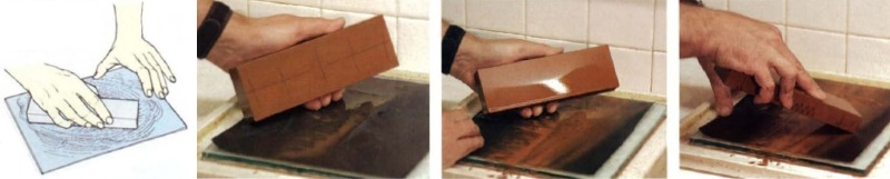 Выравнивание поверхности точильного камня