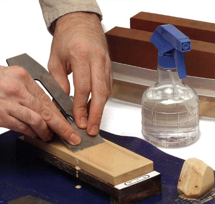 Точильные камни и методы заточки. Заточка ножа рубанка