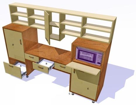 Модель будущей кухонной мебели