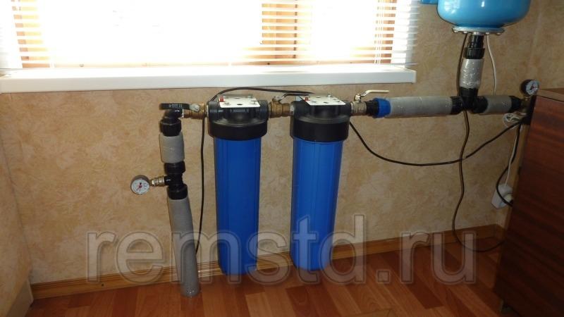 Ввод системы водопровода в дом
