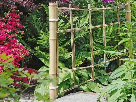Легкая садовая ширма из бамбука
