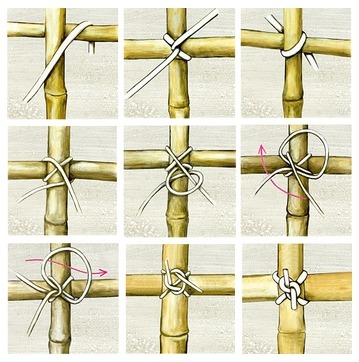 Правильно связываем бамбук