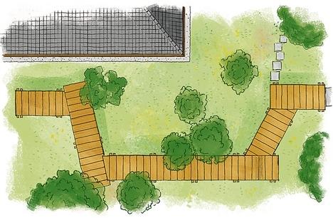 Строим деревянные дорожки - мостки. План участка