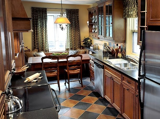 Керамическая плитка. Классический вариант для кухни