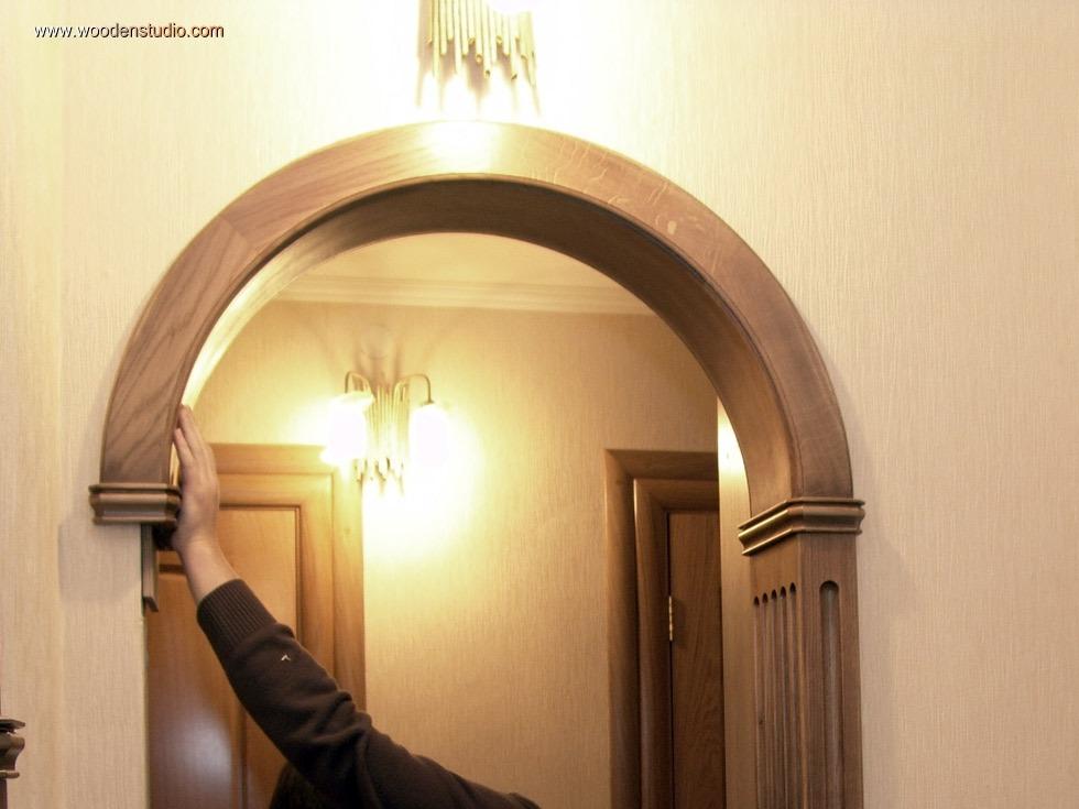 Установка деревянной межкомнатной арки