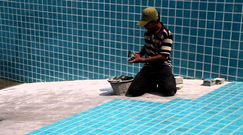 Облицовка чаши бассейна плиткой