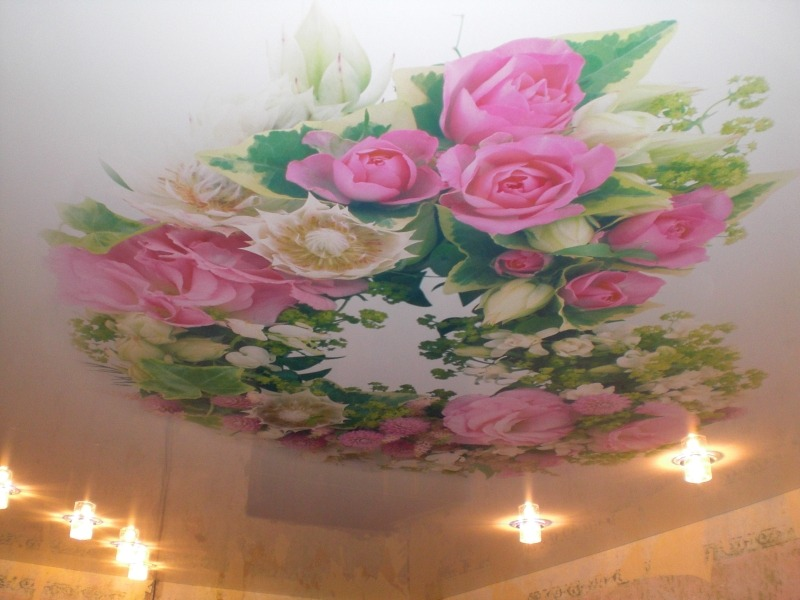 Натяжной потолок из полотна Alkor Draka