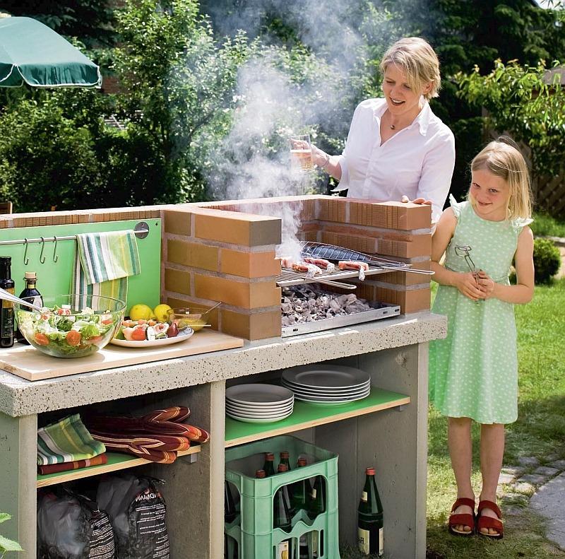 Садовые барбекю сделать своими р схема изготовления барбекю