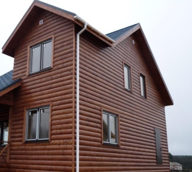 Каркасный дом обшитый блокхаусом