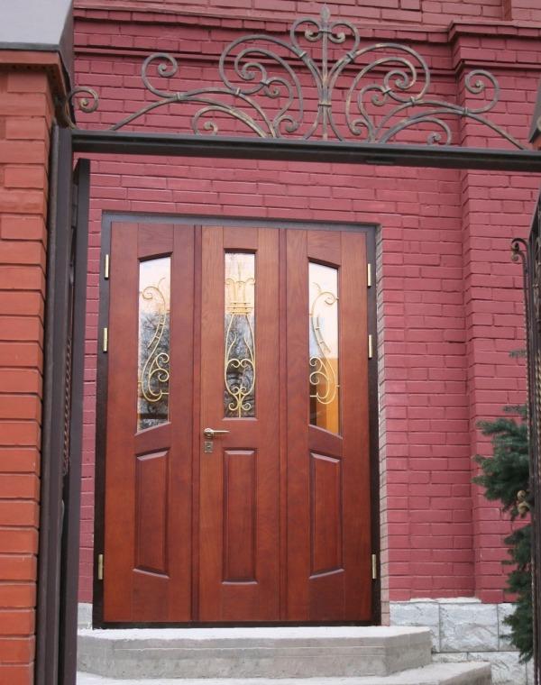 Теплые входные двери Сонэкс из тонкостенного металлического профиля Jansen