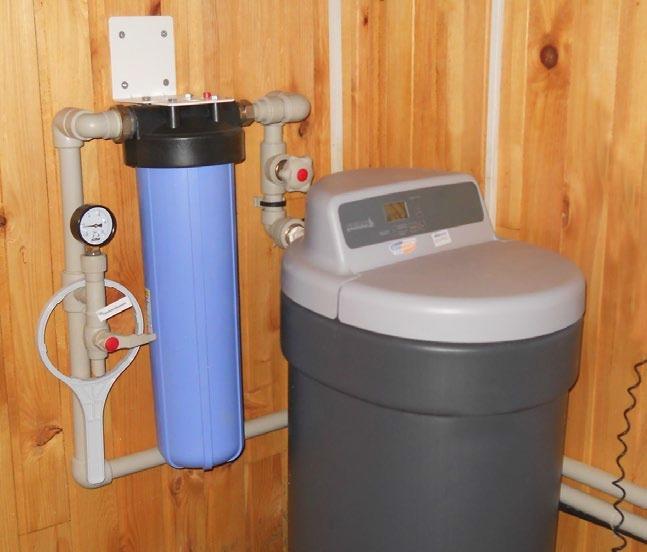Комбинированный фильтр очистки воды «Ecomaster Galaxy MX 20», обезжелезиватель и умягчитель. Пример монтажа.